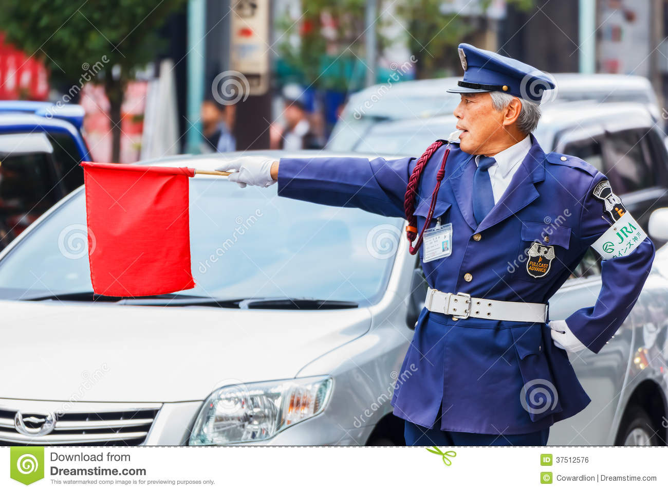 Japanese Security Guard Editorial Photo Image 37512576