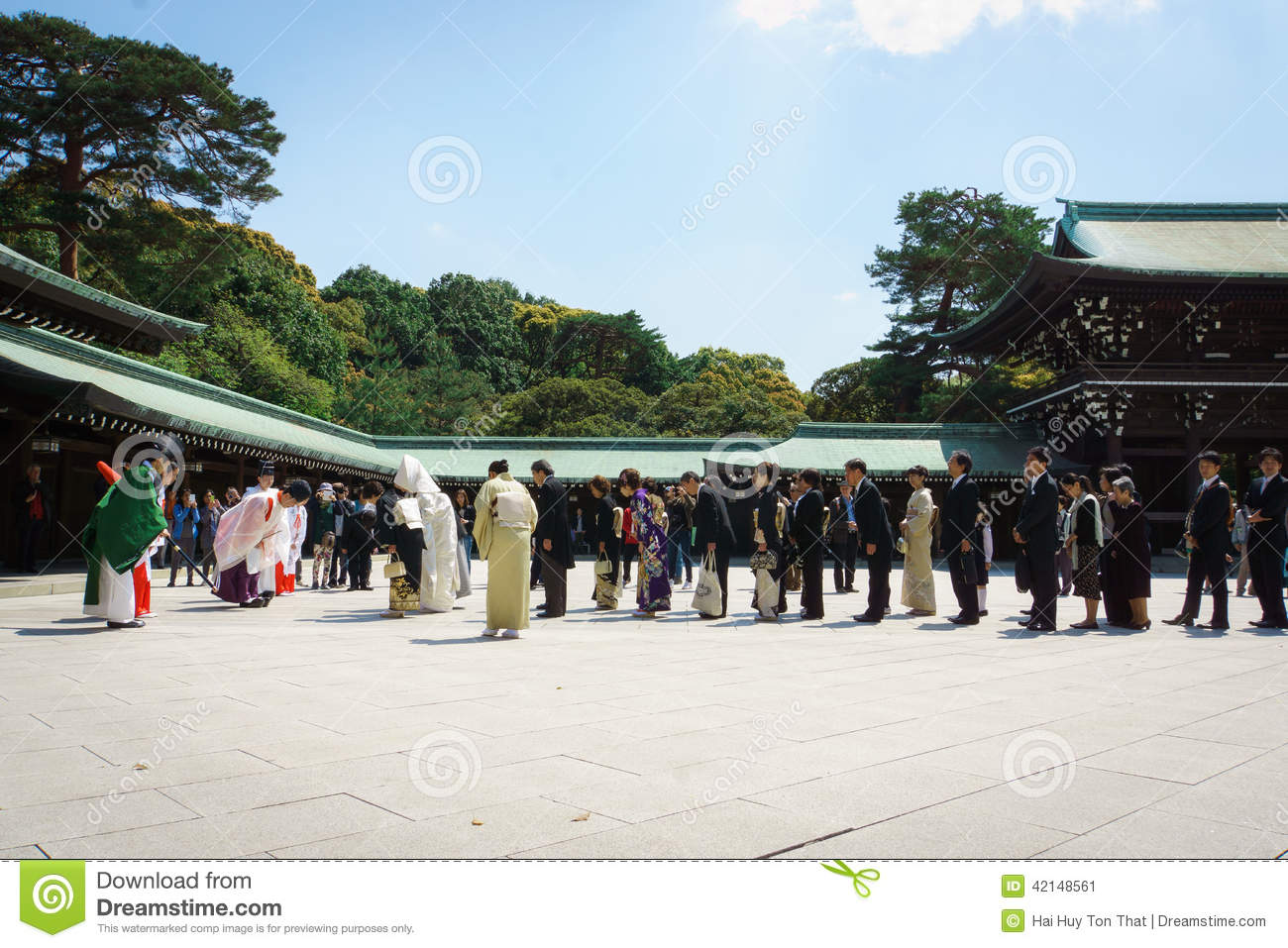 Japanese shinto wedding ceremony