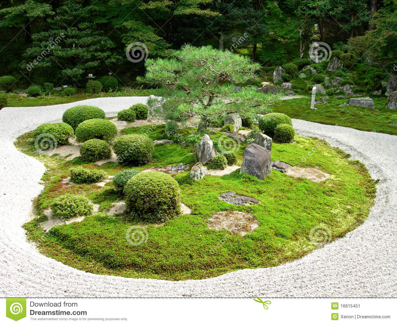 a japanese stone garden stock image image 16615451. Black Bedroom Furniture Sets. Home Design Ideas