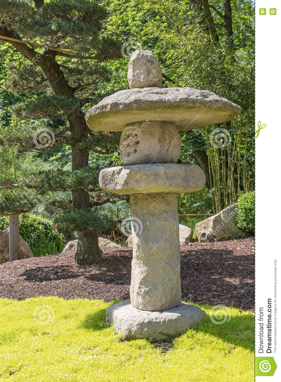 Japanese Stone Lamp Outdoors Stock Image - Image: 73121417 for Stone Lamp Post  58cpg