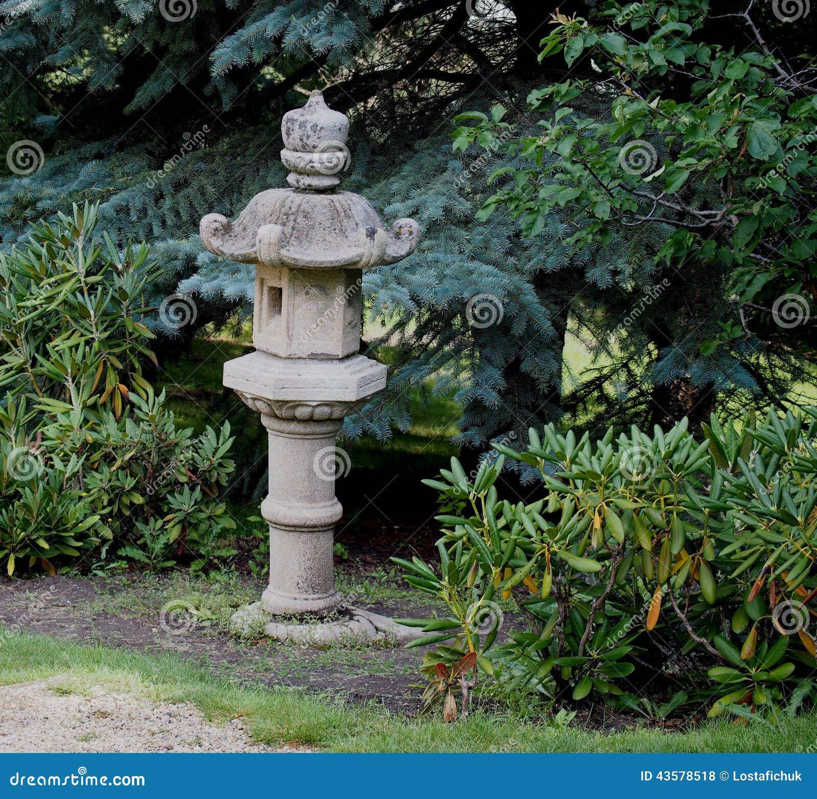 Japanese Stone Lantern Stock Photo Image Of Pagoda Symbolic 43578518