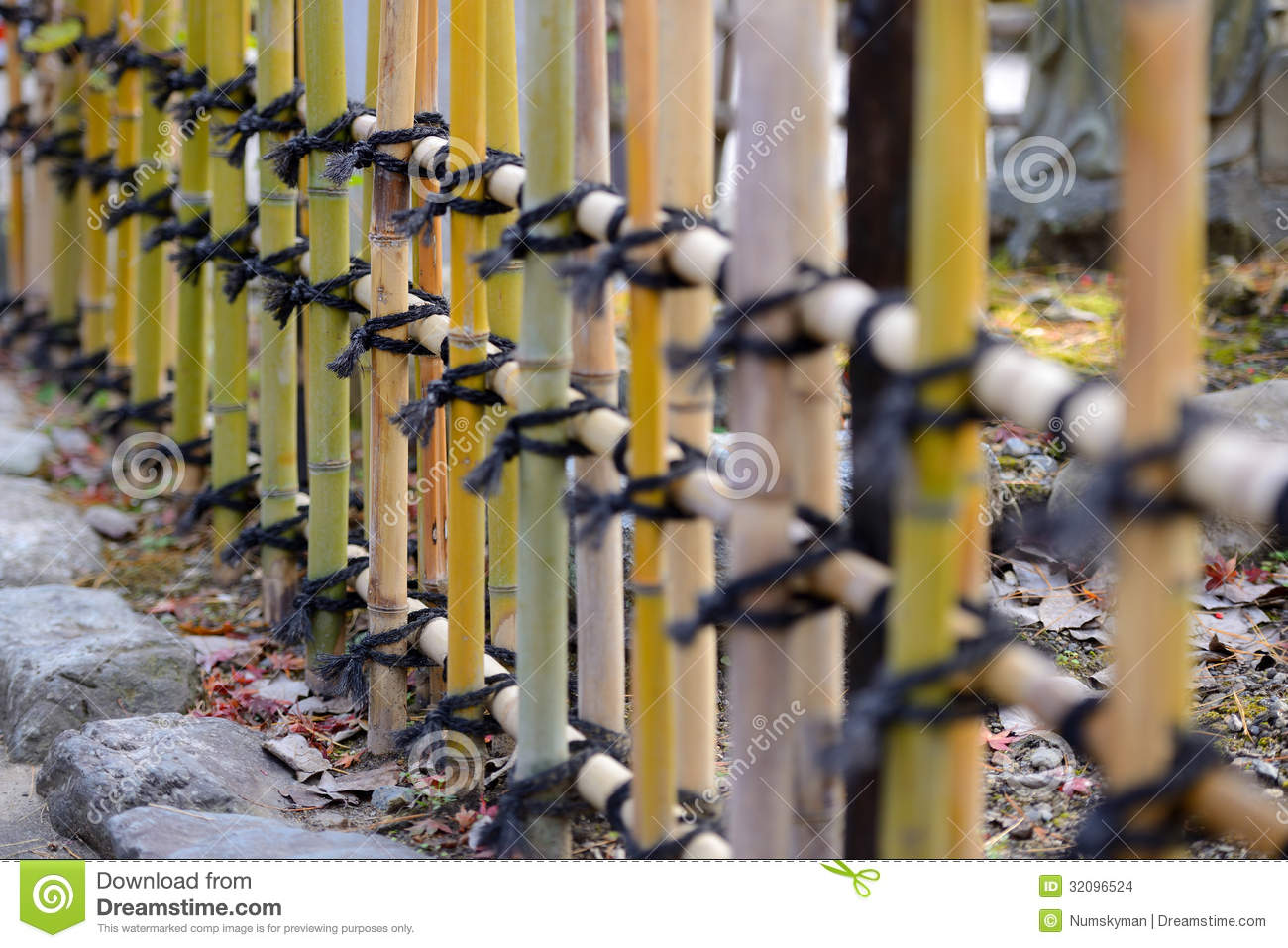 Japanese Style Bamboo Fences Stock Images Part 87