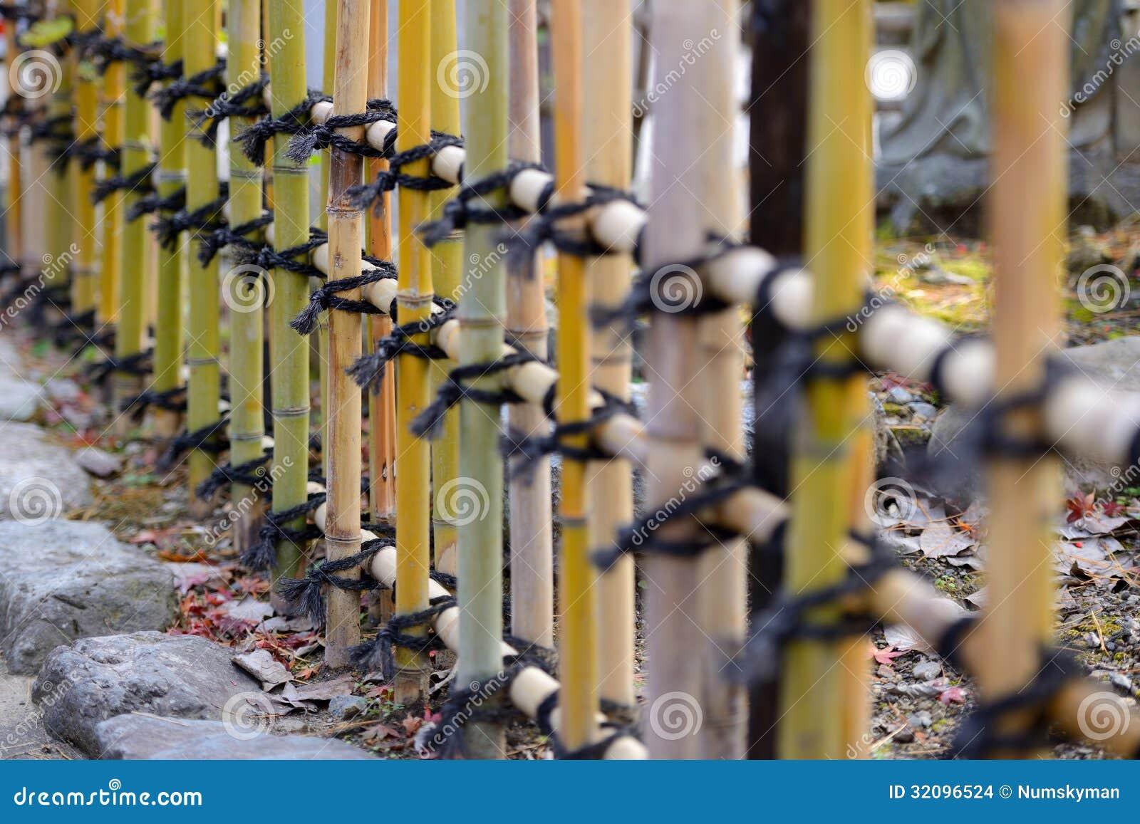 Japanese style bamboo fences stock images image 32096524