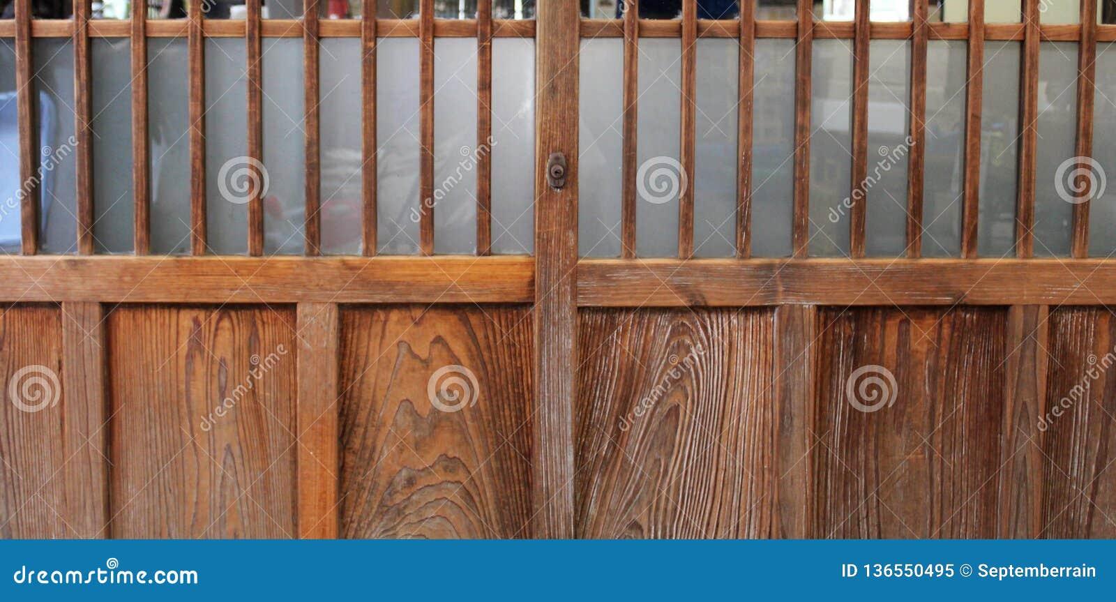 Japanese Style Exterior Sliding Doors Stock Image Image Of Common Element 136550495