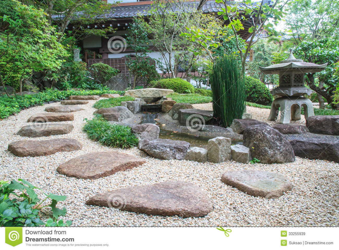 Japanese style garden stock image image of japan for Japanese style landscaping