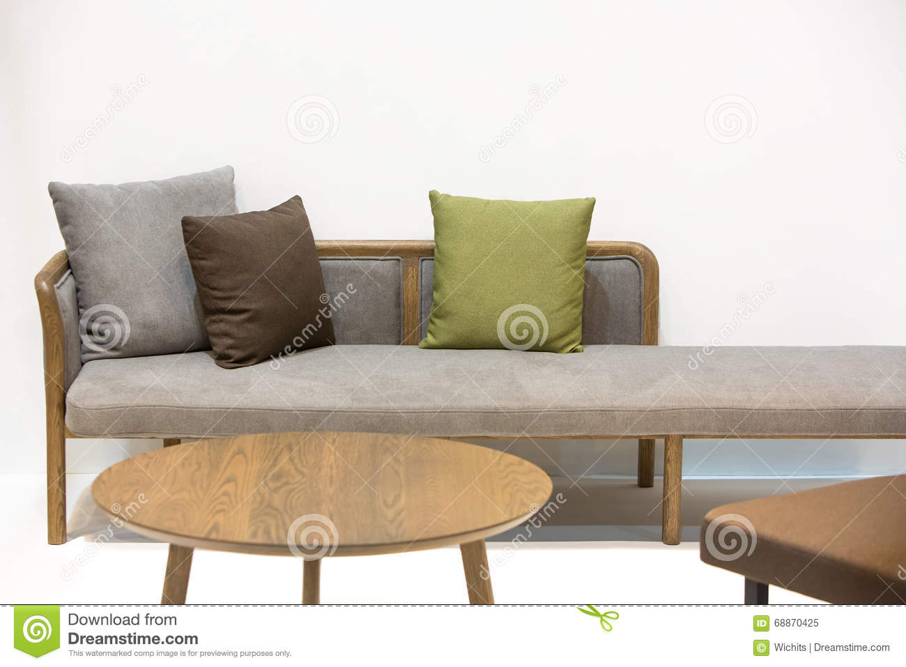 Japanese style sofa bed stock image Image of countryside  : japanese style sofa bed isolate round wooden coffee table white background 68870425 from www.dreamstime.com size 1300 x 957 jpeg 92kB