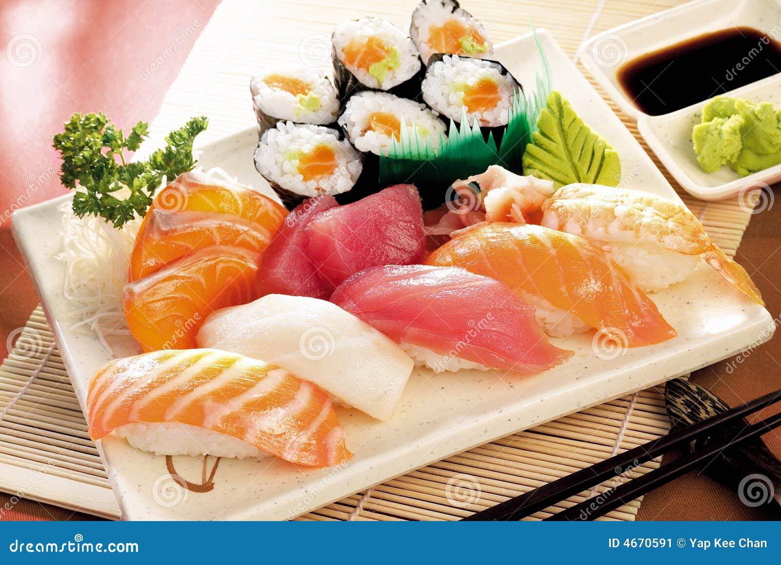 Japanese Sushi Stock Image Image 4670591