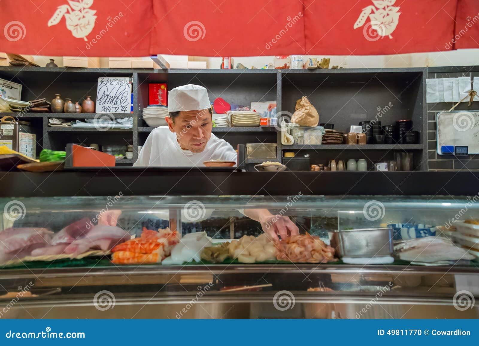 Japanese Sushi Chef editorial image  Image of tasty, asian - 49811770