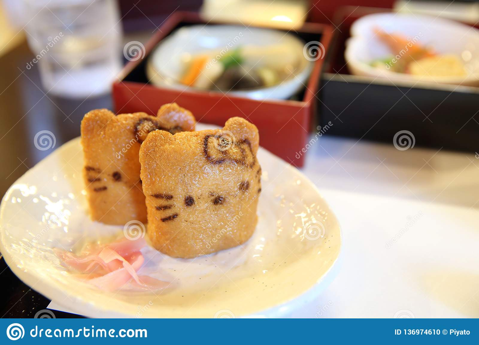 Japanese Sushi Inari Sushi, Fried Bean-curd Stuffed With