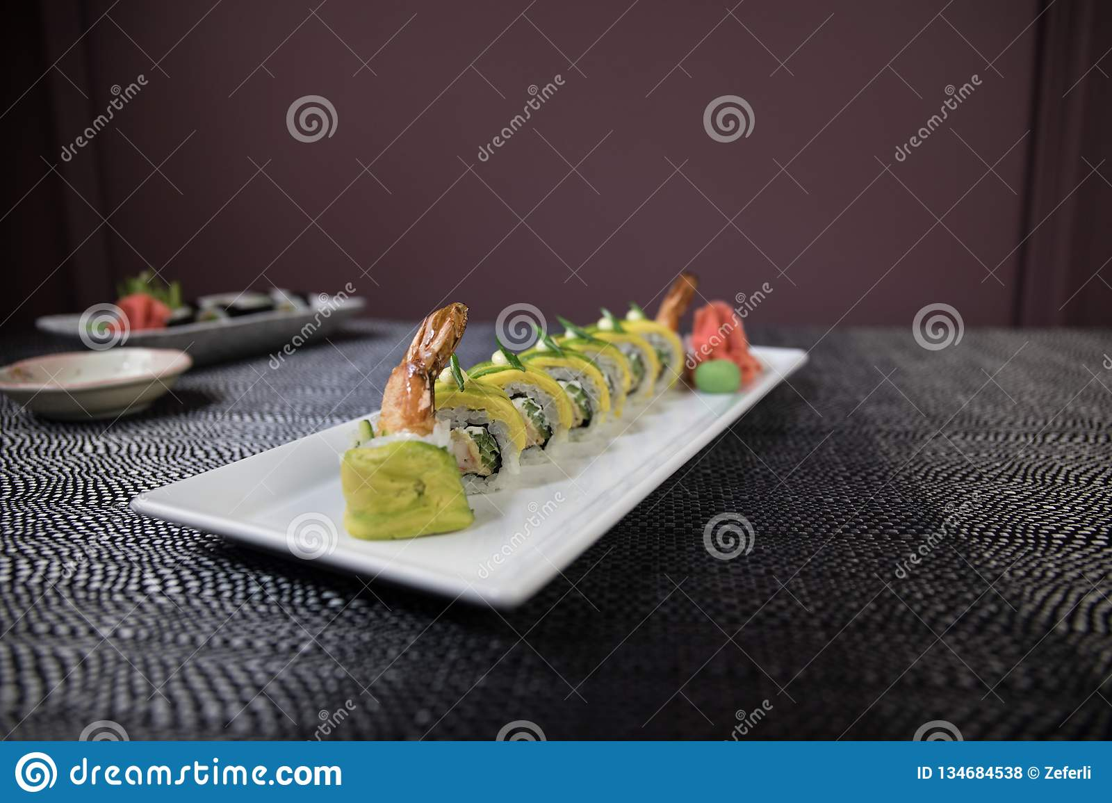 Superb Japanese Sushi Set With Ready To Serve Beautiful Eastern Home Remodeling Inspirations Genioncuboardxyz
