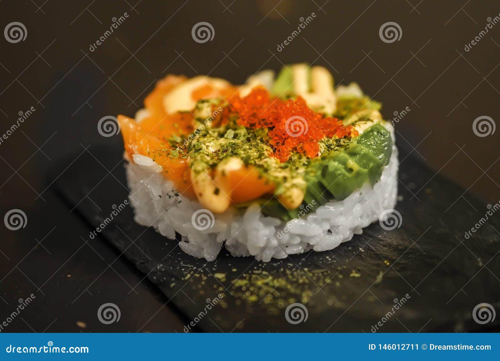 Japanese sushi tartar
