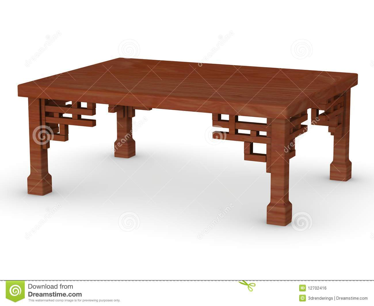 Japanese Table Stock Illustration Illustration Of