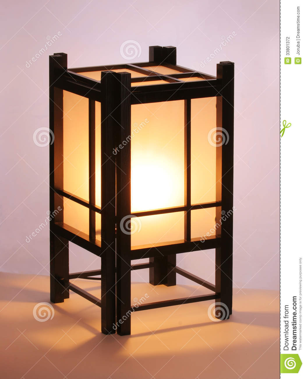 Japanese Table Lamp Stock Photography Image 33801372