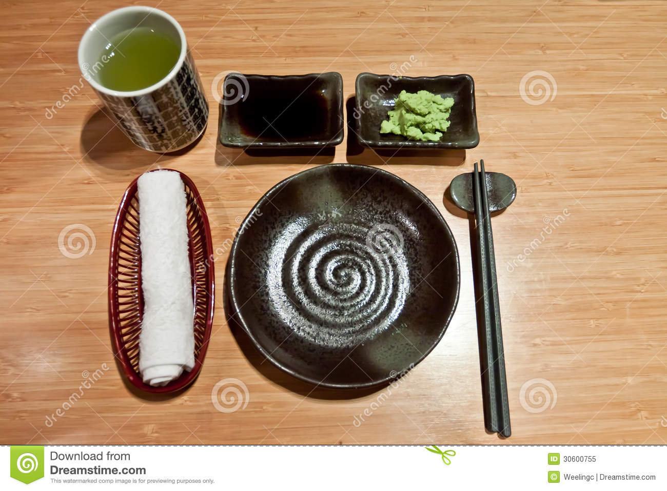 Japanese Table Settings Royalty Free Stock Photo Image