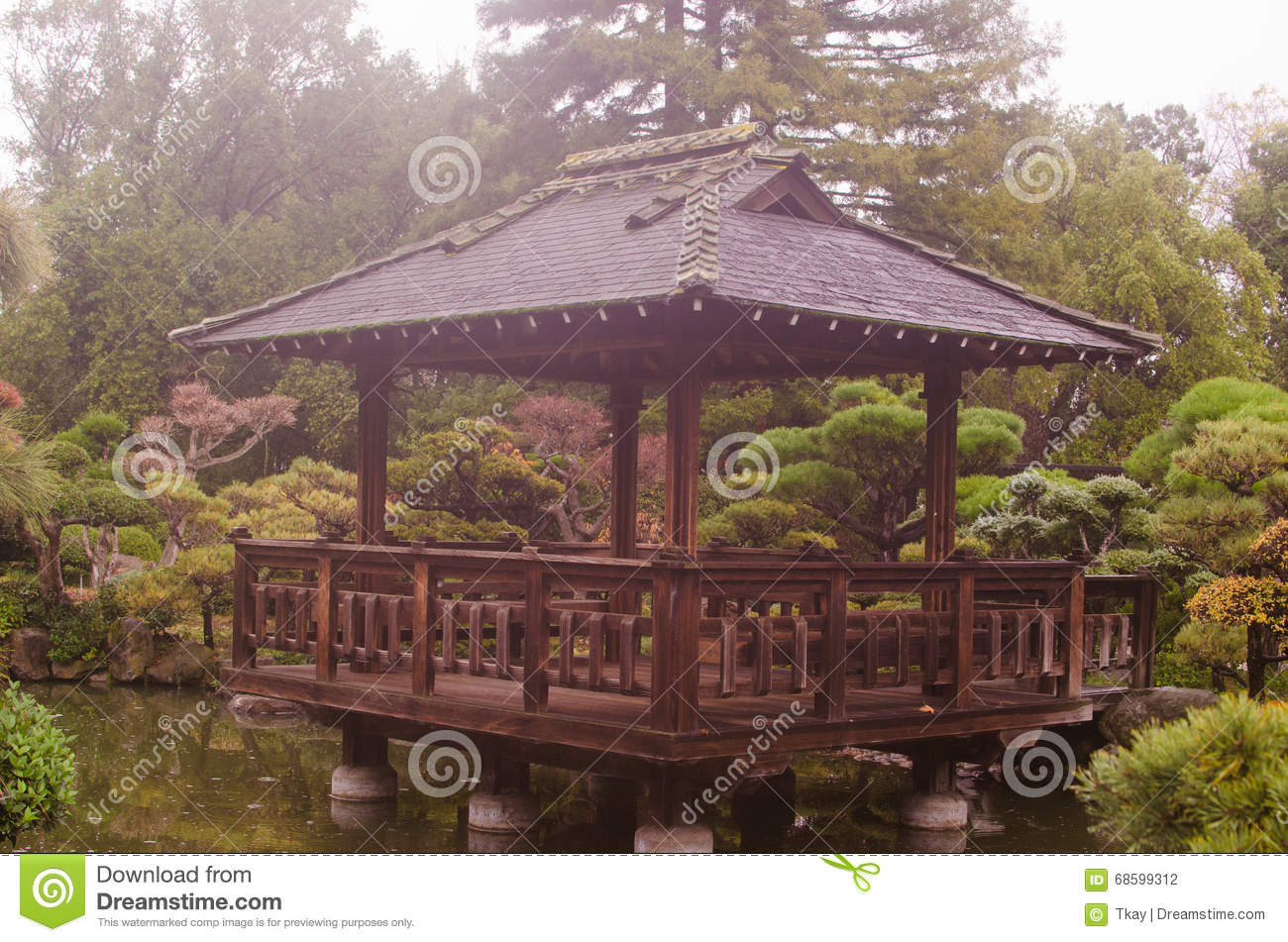 Japanese Tea Garden stock photo. Image of branches, traditional ...