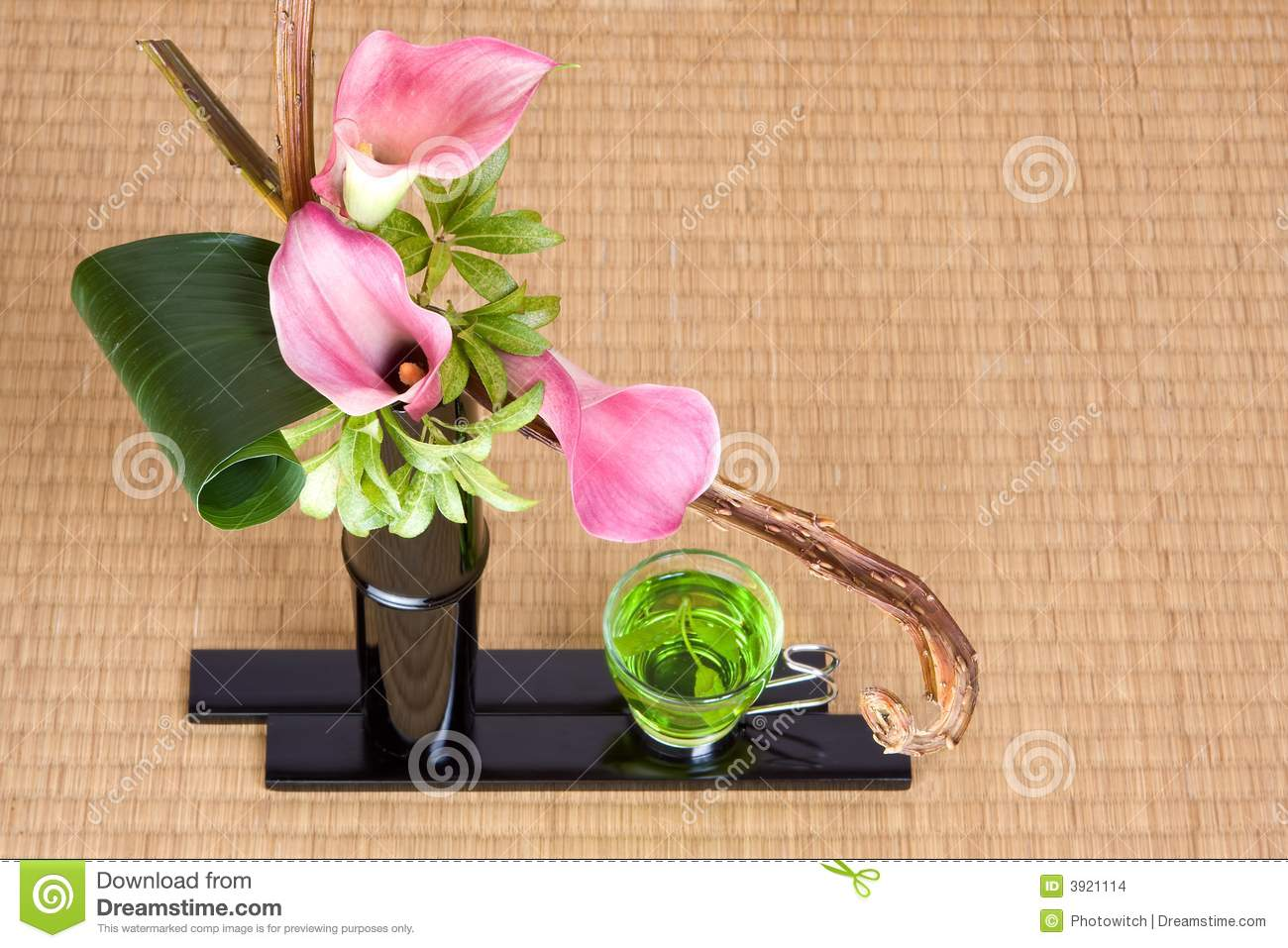 Japanese Tea And Ikebana Stock Photo Image Of Asian Traditional