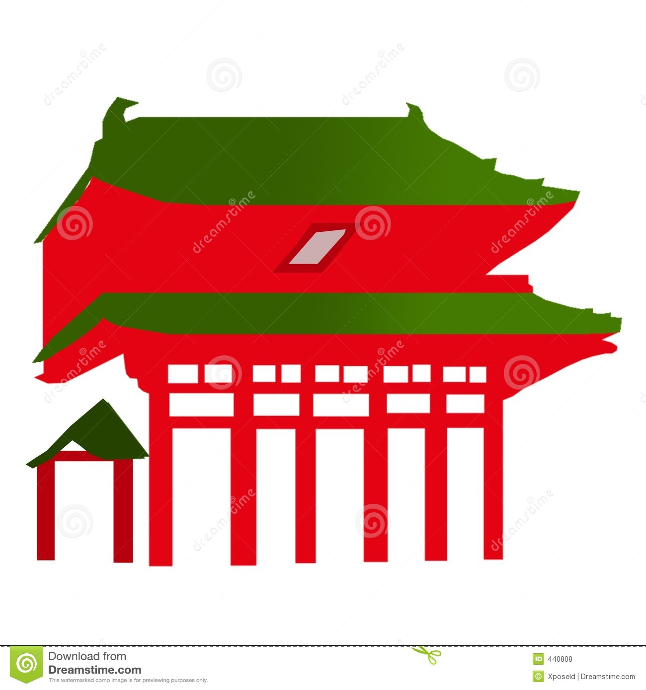 Chinese Temple Vector Vector Chinese Temple