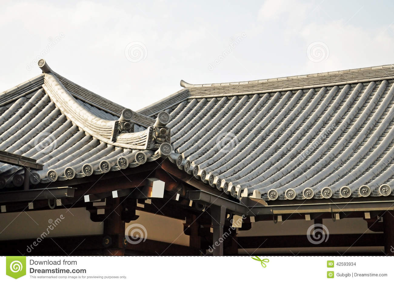japanese temple roof stock photo image of decorative. Black Bedroom Furniture Sets. Home Design Ideas