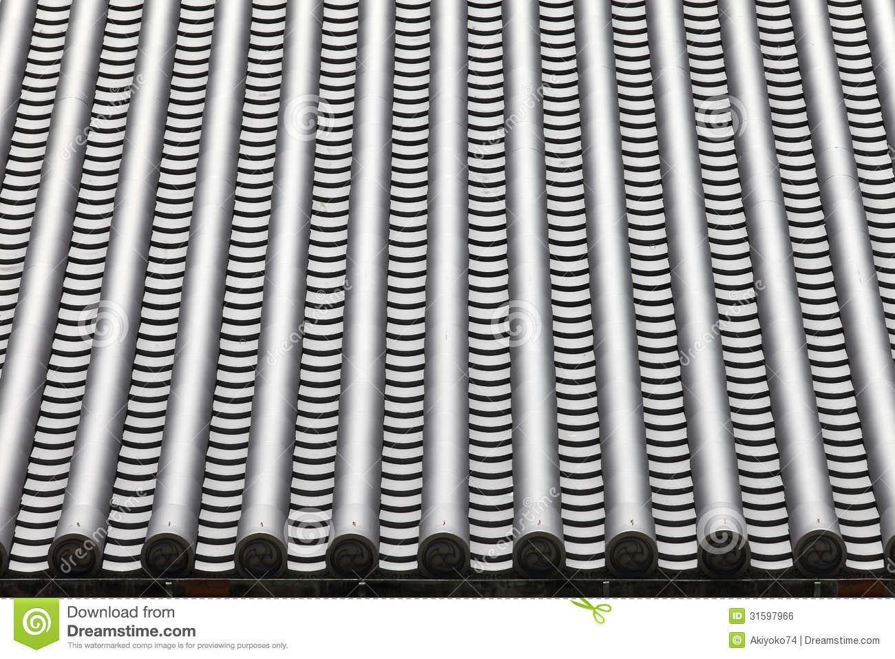 Japanese Temple Roof Tiles Stock Photo Image Of Buddhism