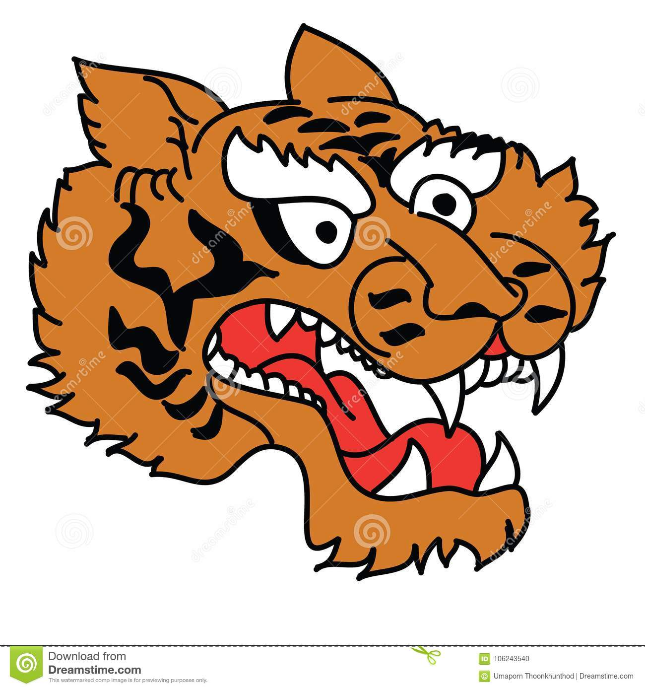 0fd7a0a79 Japanese Tiger head vector isolate on white background.traditional tattoo  tiger face.Japanese tiger head tattoo design vector for sticker.