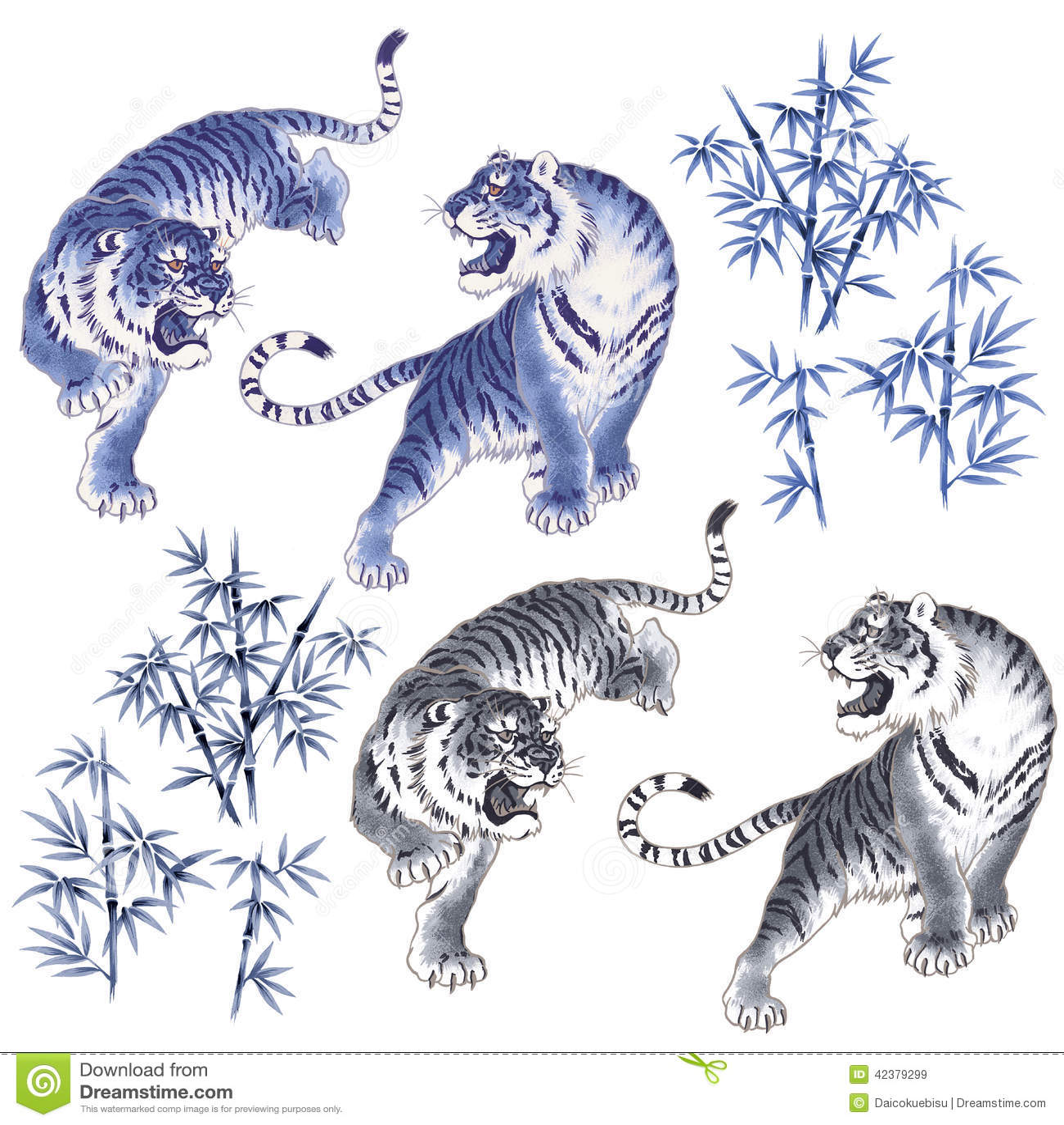 Japanese Tiger Stock Illustration - Image: 42379299