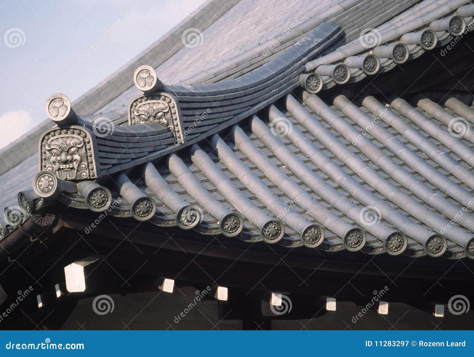 Japanese Tiled Roof Stock Image Image Of Decorative