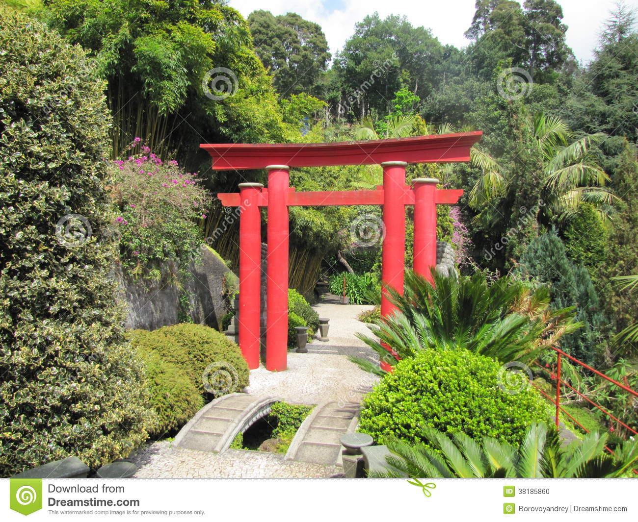 Japanese Torii Gate Stock Photo Image 38185860