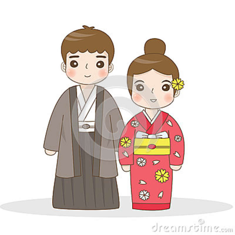 Japanese Traditional Dress Stock Vector Illustration Of Dress