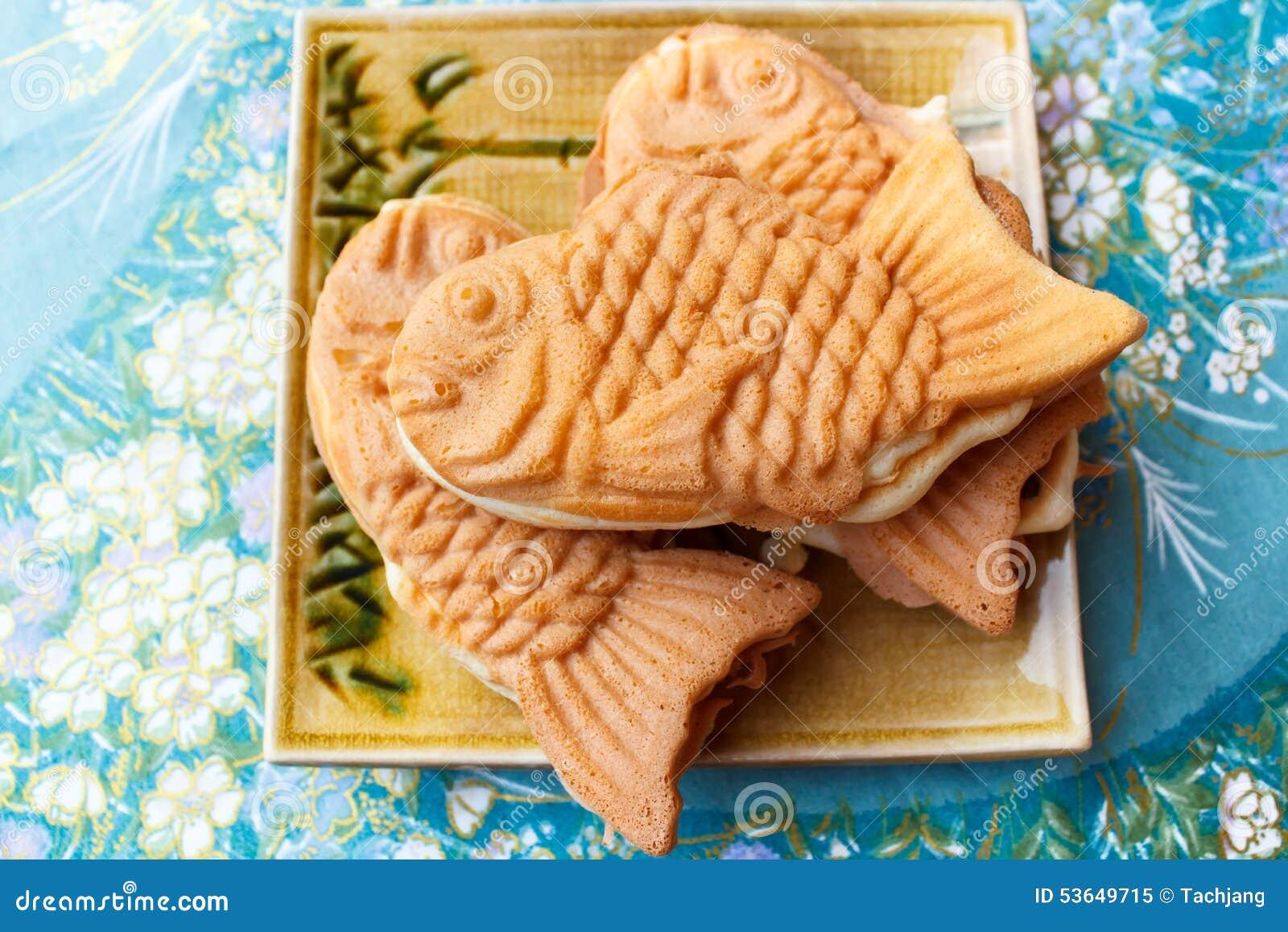 Japanese Traditional Fishshaped Cake Taiyaki Stock Photo