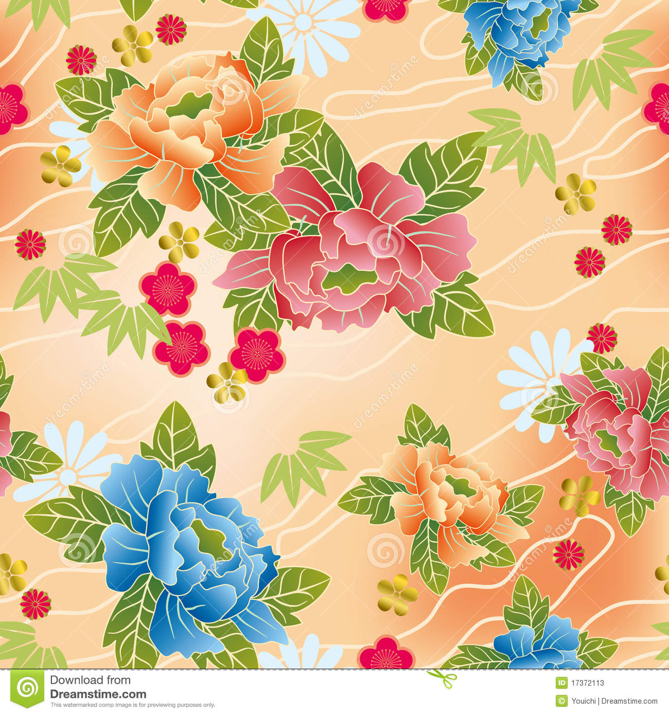 Japanese Traditional Floral Pattern Stock Vector ...