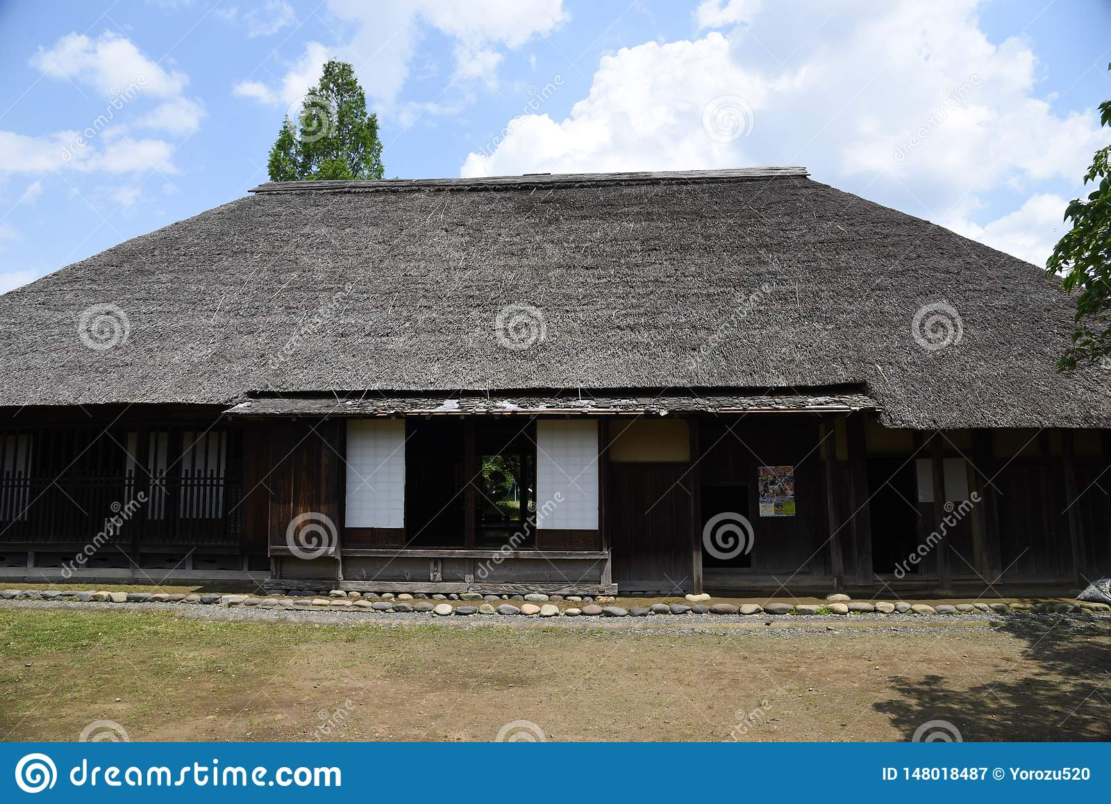Japanese Traditional Old Folk House Stock Image Image Of Design Culture 148018487