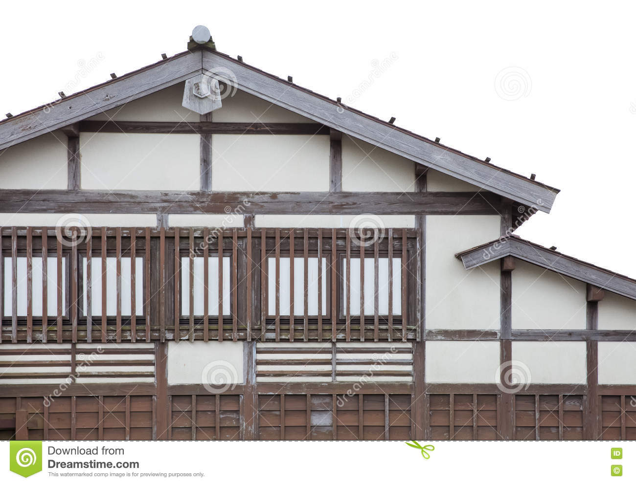 Japanese traditional old house isolated stock photo for Classic japanese house