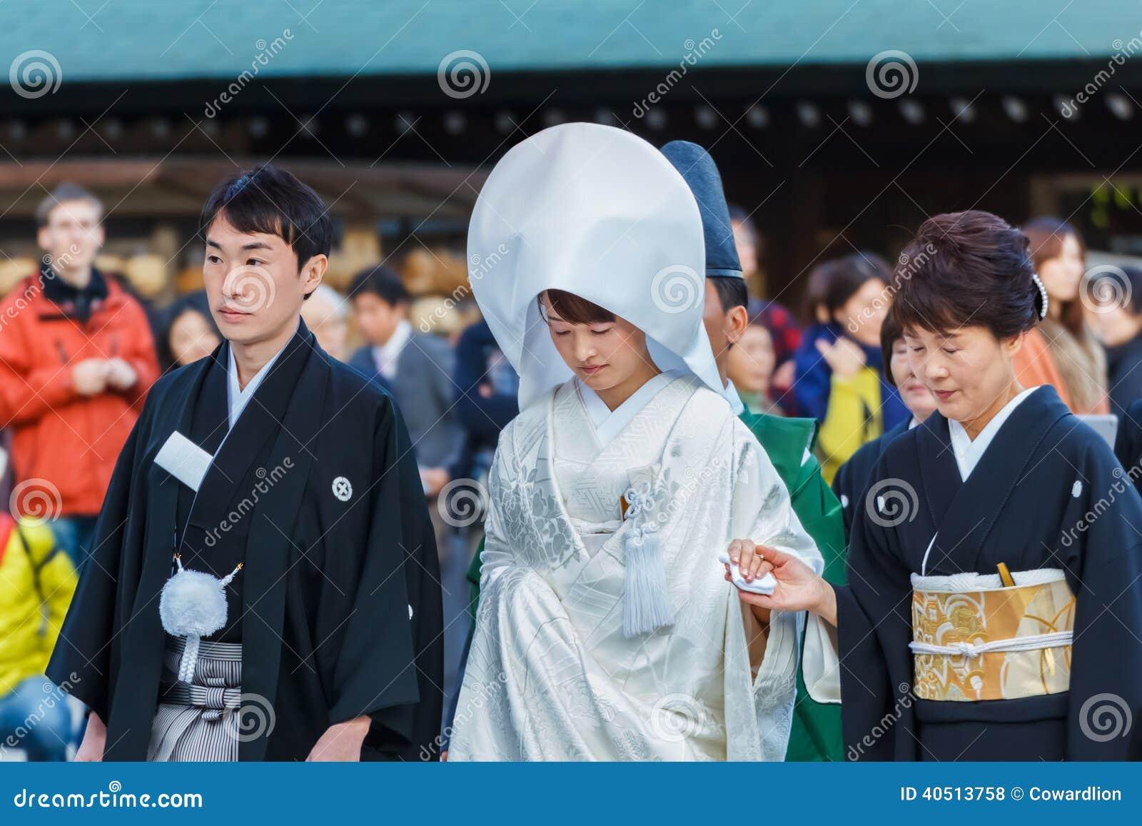 japanese traditional wedding ceremony editorial stock photo image