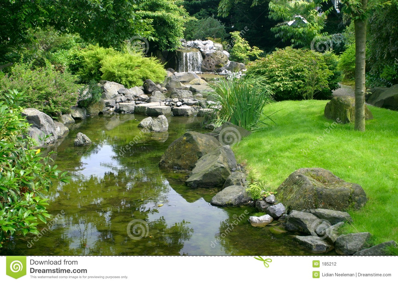 Japanese water garden stock photography image 185212 for Japanese water garden