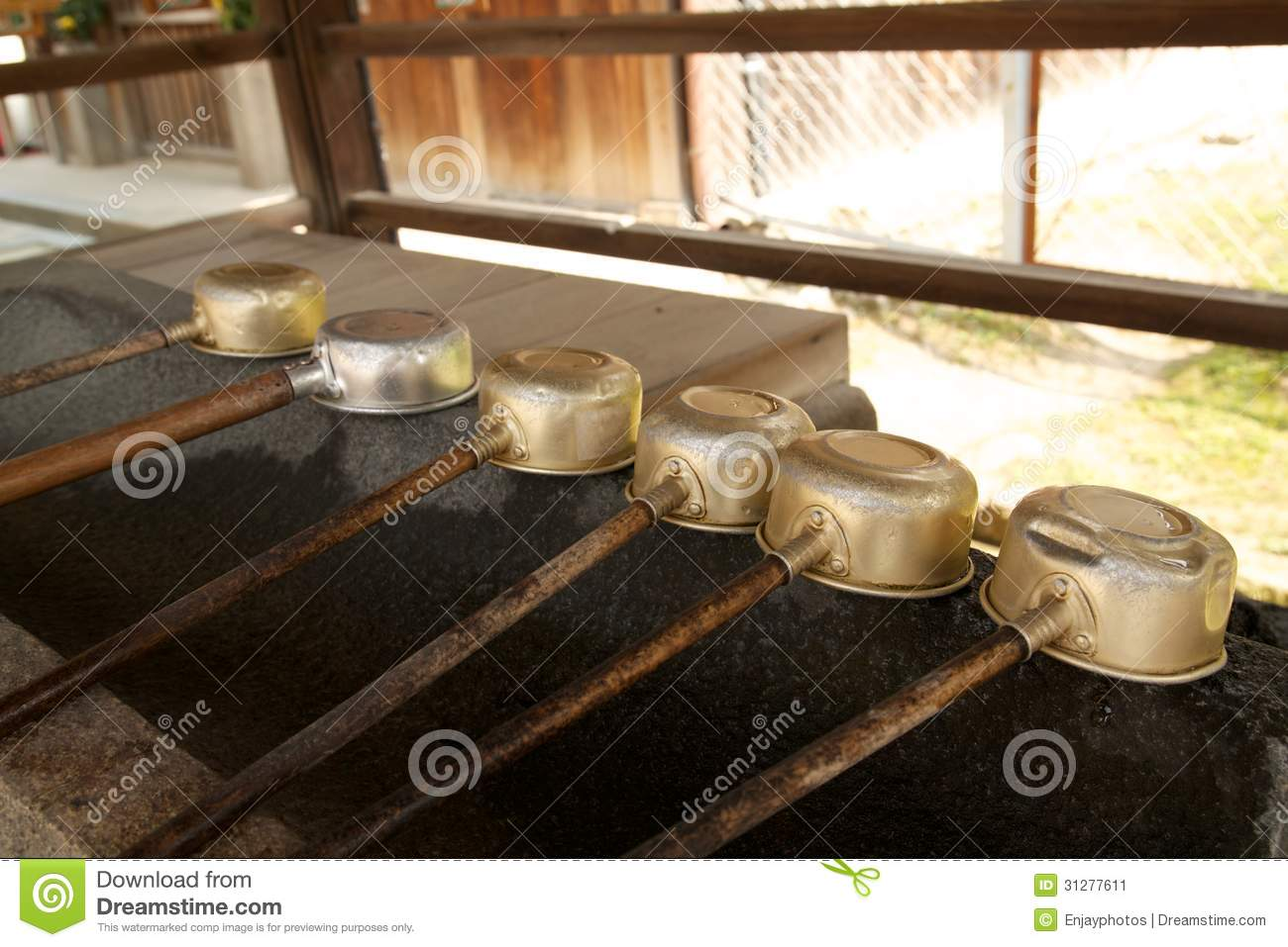 Japanese water ladles stock image image 31277611 for Water in japanese