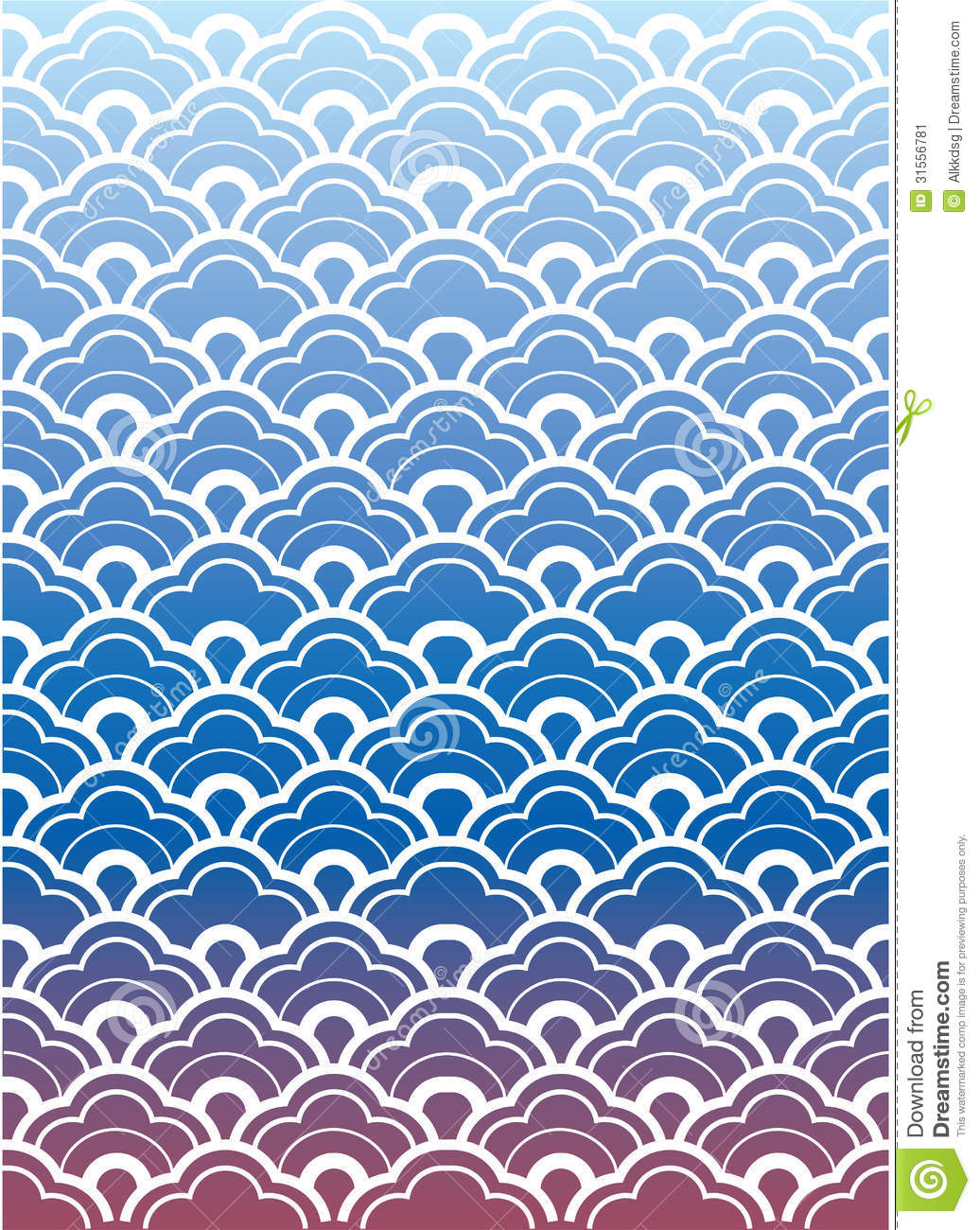 Japanese Wave Wallpaper Stock Vector Illustration Of Nature