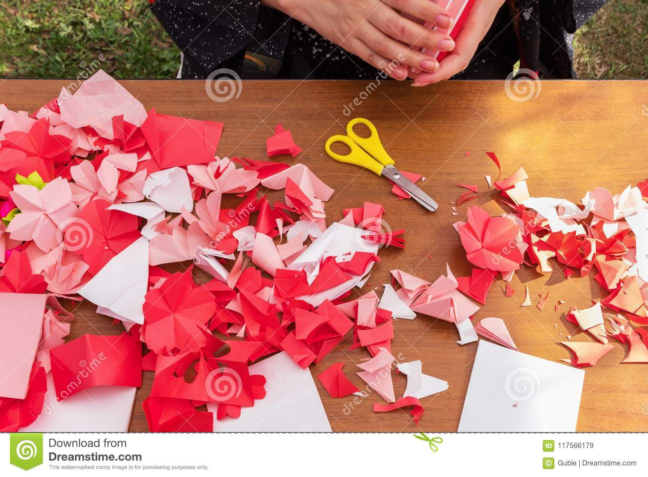 Japanese Woman Shows A Master Class On Creating Origami Flowers From