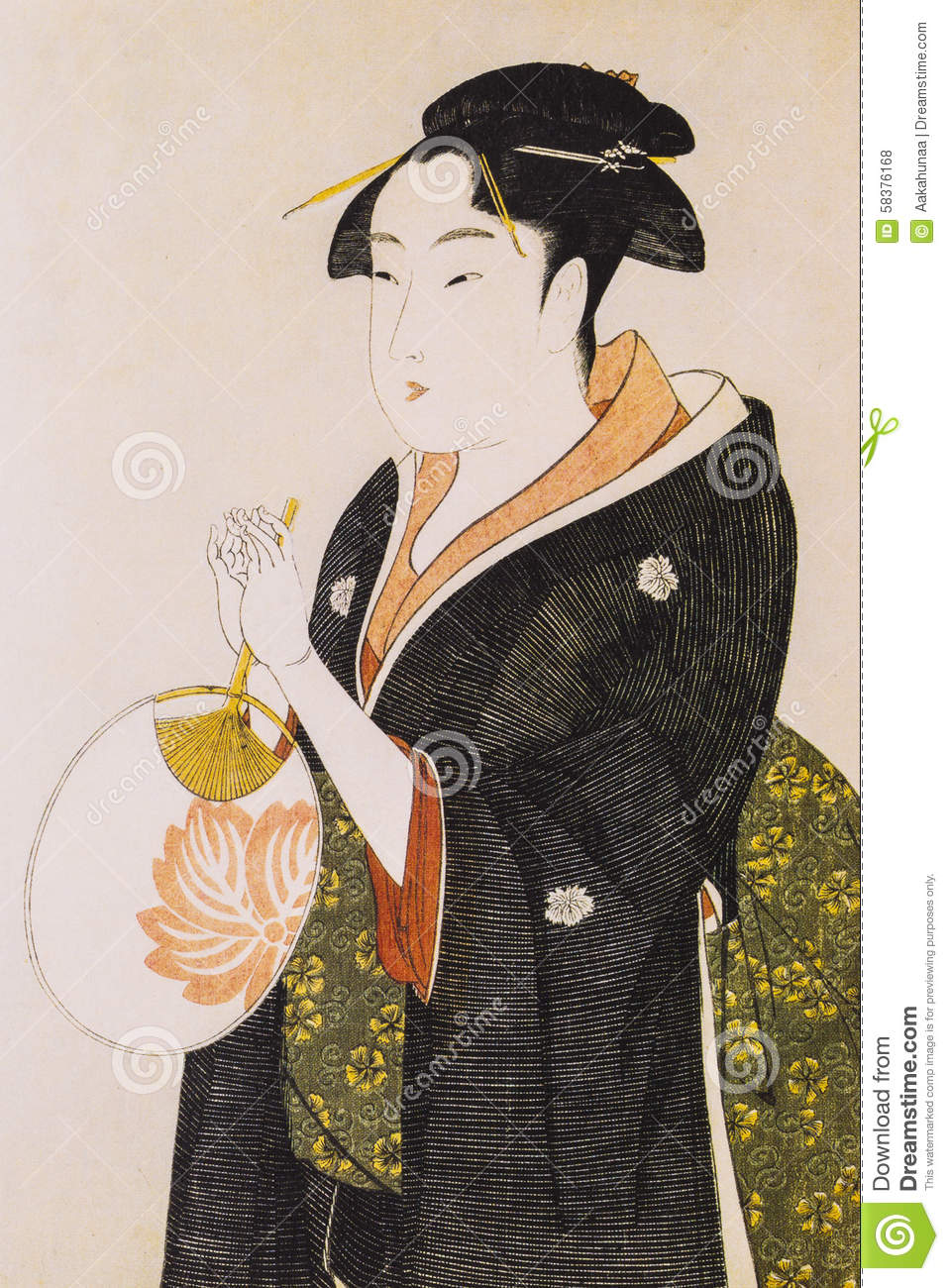 Japanese Women In Traditional Dress Stock Photo Image