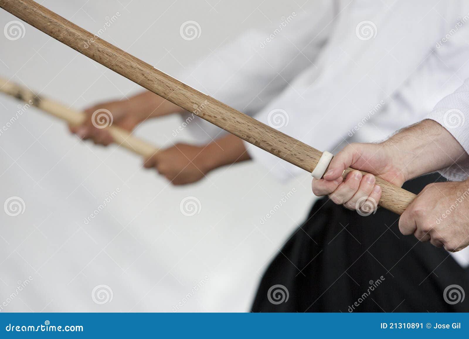 Japanese Wooden Swords stock image. Image of shinkendo ...
