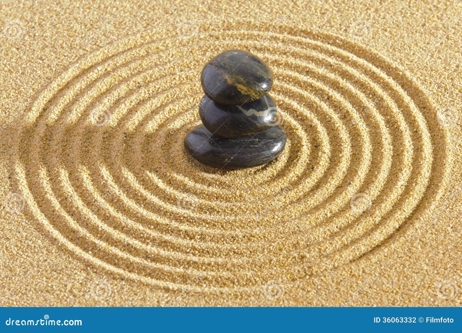 Japanese zen garden stock photo image of asia meditation for Japan zen garten