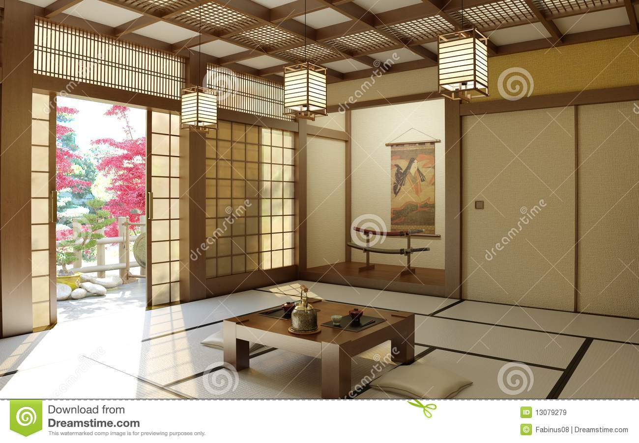 Japanese zen room stock image image of inside buddhist for Zen type bedroom ideas