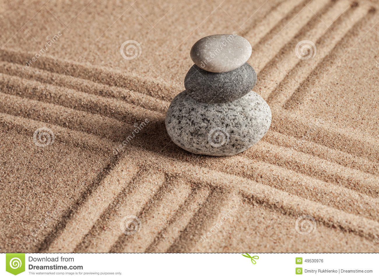 Japanese Zen stone garden stock photo. Image of meditating - 49530976