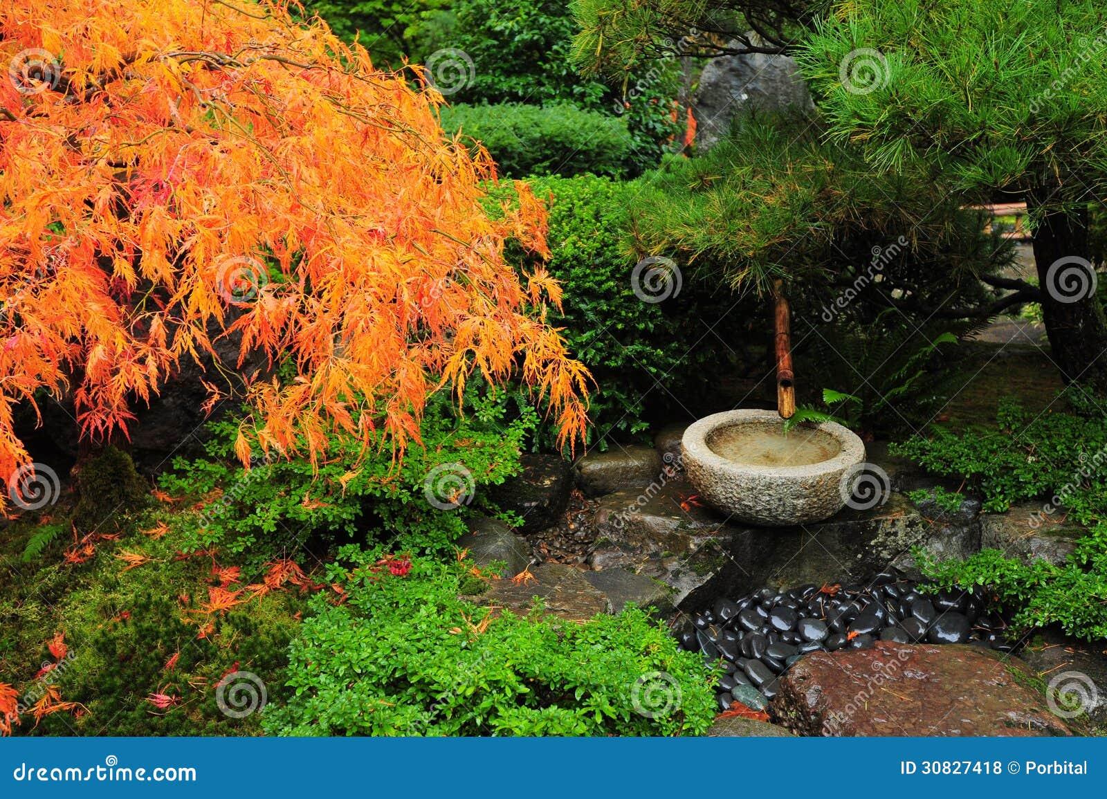 Japanische Gartendekoration Lizenzfreie Stockfotos Bild