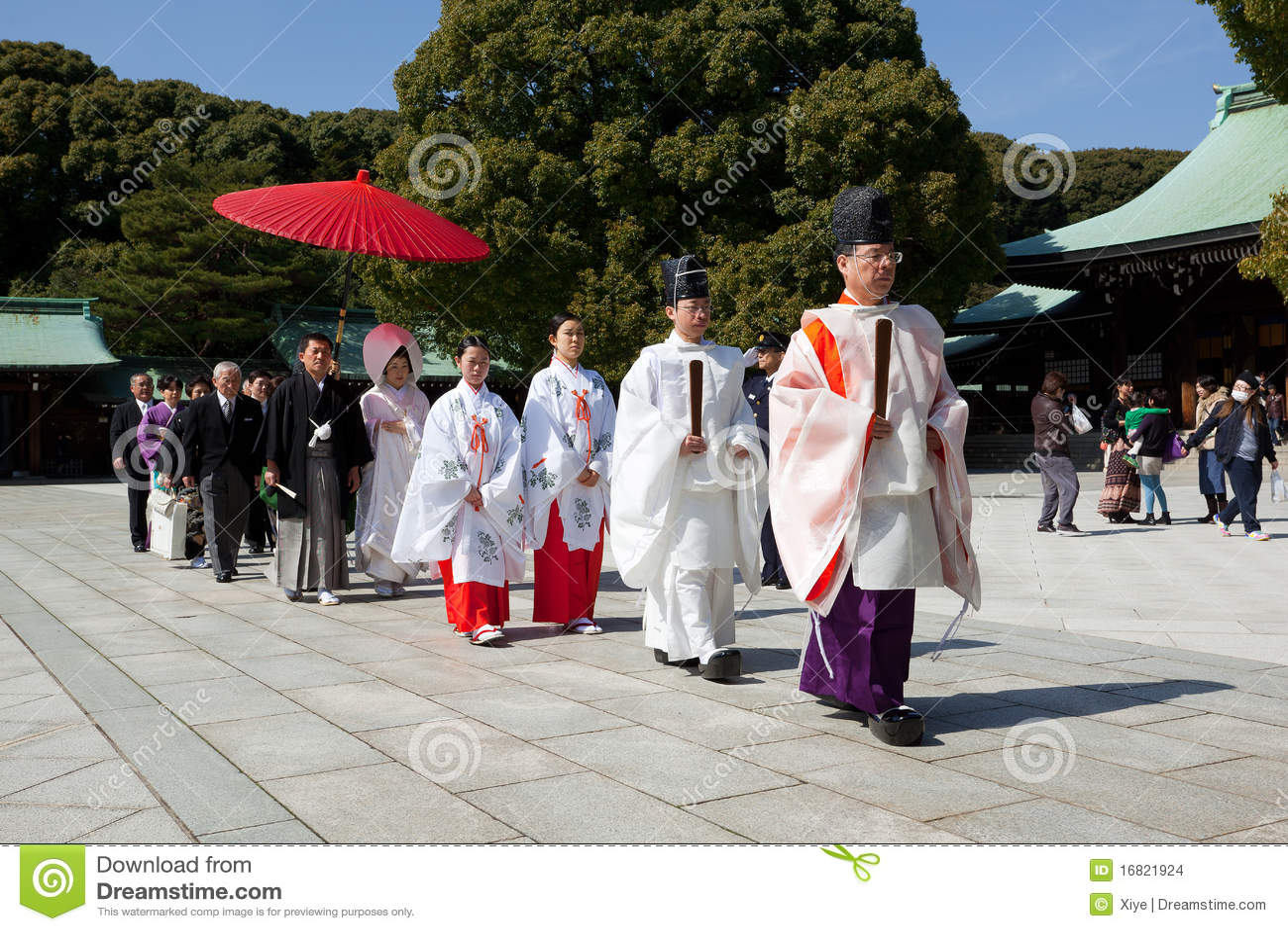 Japanische Hochzeitszeremonie
