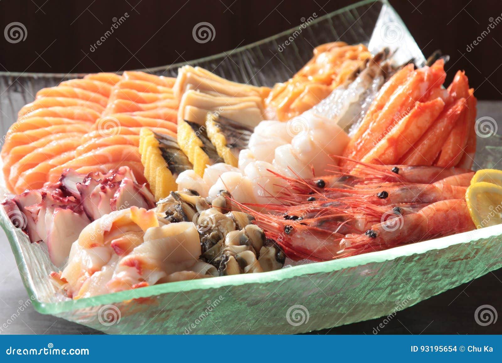 Japanische Küche des Sashimis