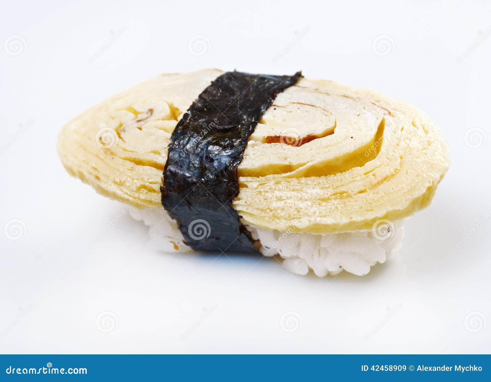 Japanische Sushi mit Reis