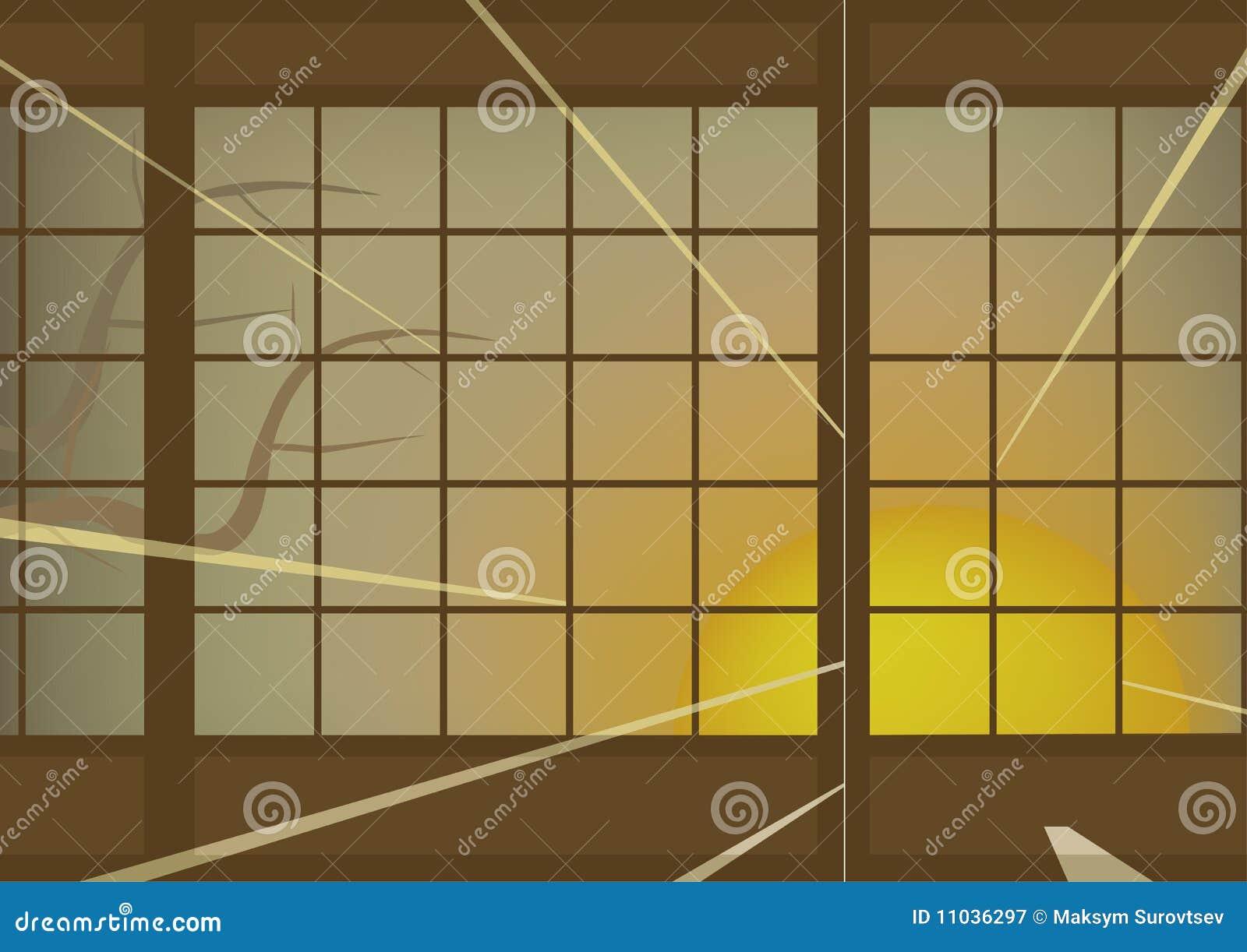 Japanische Wand japanische wand vektor abbildung illustration meditieren 11036297