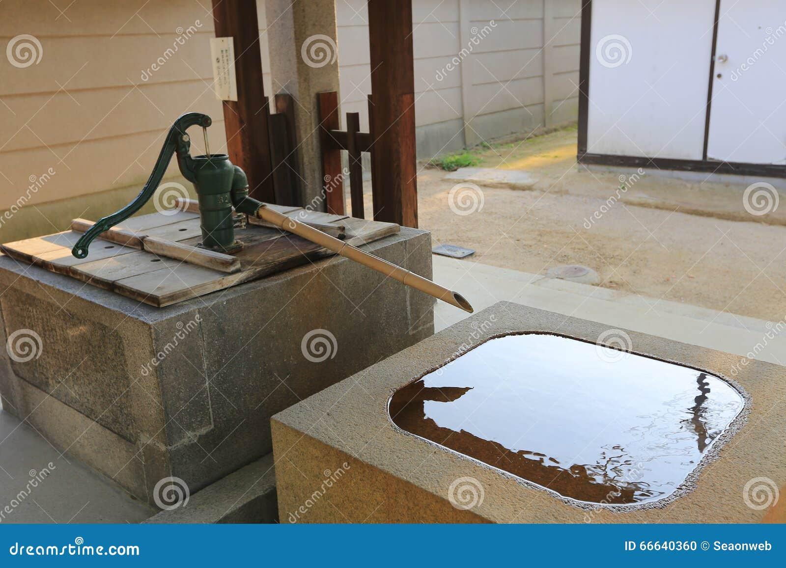 Japanischer Bambusbrunnen Stockfoto Bild Von Japanisch 66640360