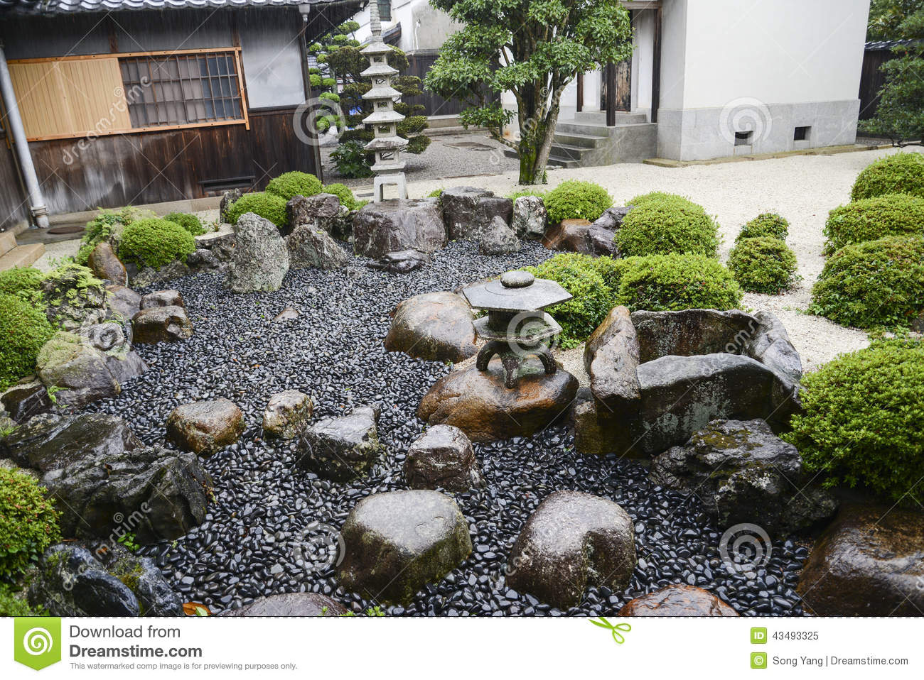 japanischer garten in kyoto japan stockfoto bild 43493325. Black Bedroom Furniture Sets. Home Design Ideas