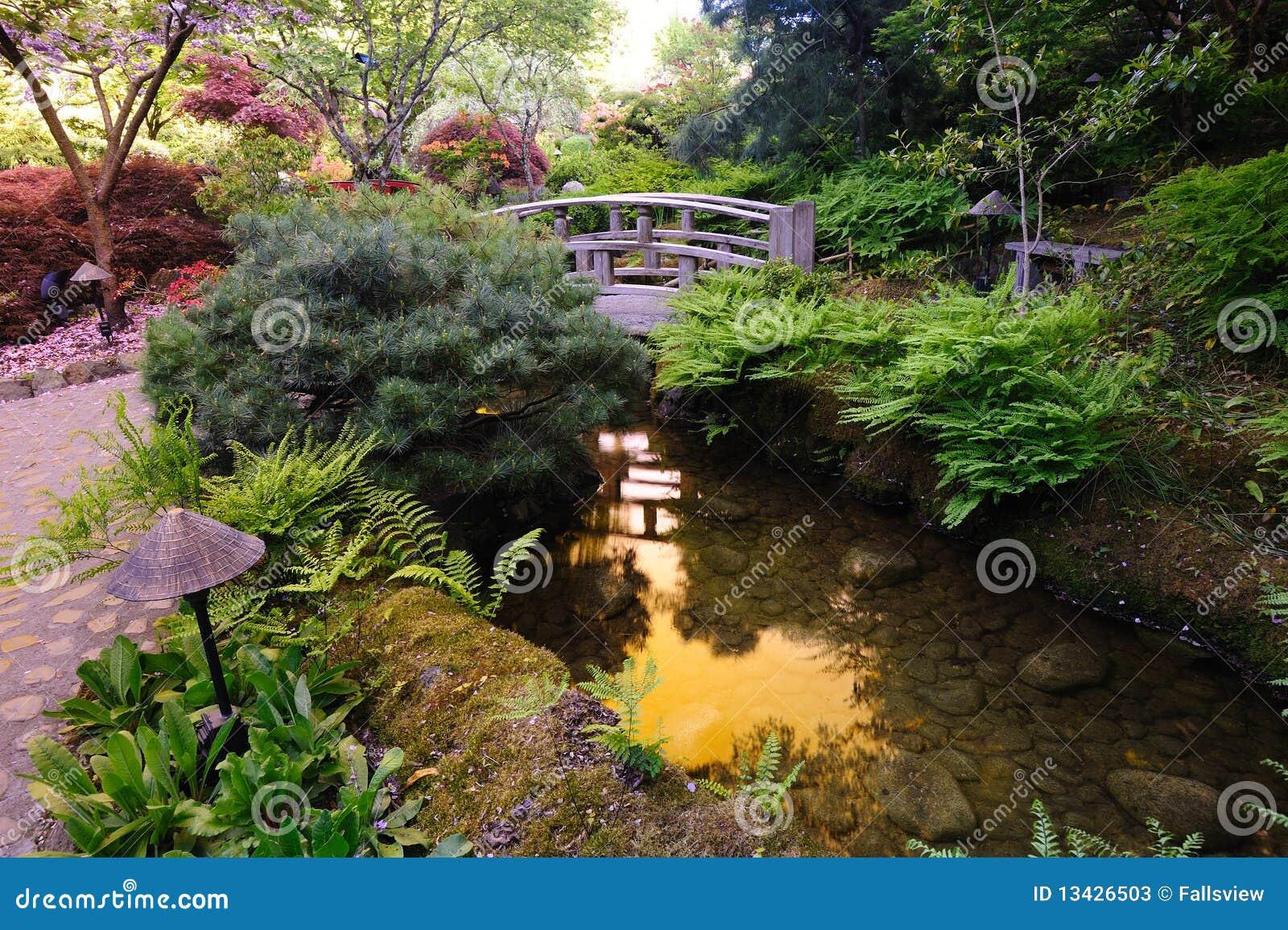 japanischer gartenteich stockfotos - bild: 13426503, Garten ideen